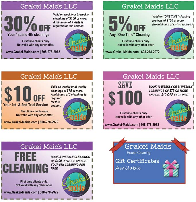 house cleaning coupons madison wi